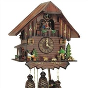 Schneider 12.5'' 8-Day Movement Cuckoo Clock w/ Dancing Couples
