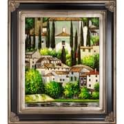 Tori Home Church in Cassone (Landscape with Cypress) Canvas Art