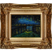 Tori Home Starry Night Over The Rhone by Vincent Van Gogh Framed Original Painting
