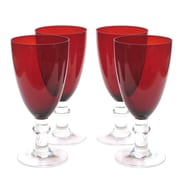 Certified International Glass Stemware 16 Oz.Stemmed Water Glass (Set of 4)