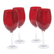 Certified International Glass Stemware Ruby White Wine Glasses (Set of 4)