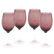 Certified International Glass Stemware Amethyst White Wine Glasses (Set of 4)