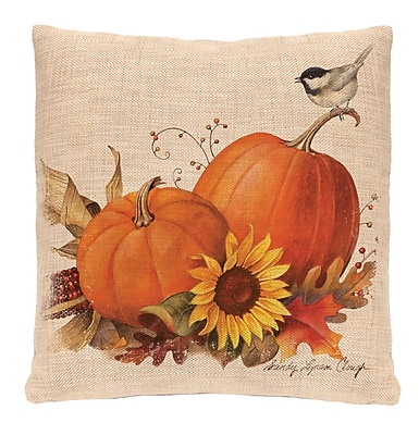 Heritage Lace Harvest Pumpkin Throw Pillow