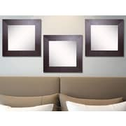 Rayne Mirrors Ava Wide Leather Wall Mirror (Set of 3)