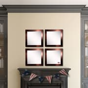 Rayne Mirrors Ava Barnwood Wall Mirror (Set of 4)