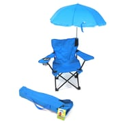 Redmon for Kids Beach Kids Chair w/ Shoulder Bag; Light Blue