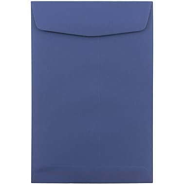 JAM Paper® 6 x 9 Open End Envelopes, Presidential Blue, 10/pack (363913003C)
