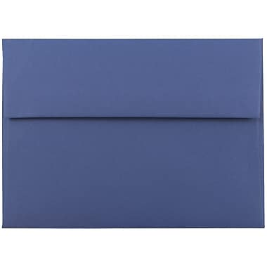 JAM Paper® A7 Invitation Envelopes, 5.25 x 7.25, Presidential Blue, 25/pack (563913397)
