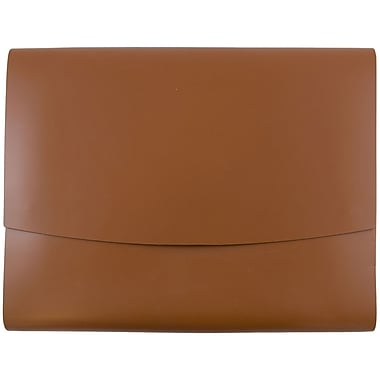 JAM Paper® Italian Leather Portfolio With Snap Closure, 10.5 x 13 x 0.75, Brown, Sold Individually (2233320843)