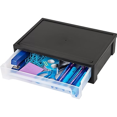 IRIS® Large Desktop Stacking Drawer, Black (150113)