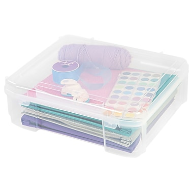 IRIS® 14x14 Scrapbook Storage Case, Clear (150781)