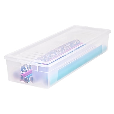 IRIS® Wrapping Paper Storage Box, Clear, 6 Pack (105000)