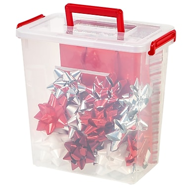 IRIS® Holiday Ribbon and Bow Storage Set, 3 Pack (585183)