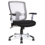 OfficeSource Artesa Mesh Managers Office Chair, Adjustable Arms, Black (11501BLK)