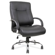 OfficeSource Big Tall Leather Executive Office Chair Fixed Arms Black