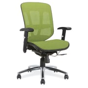 OfficeSource Engage Mesh Series Mid Back Task Chair, Green