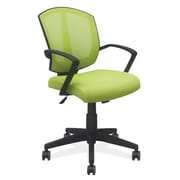 OfficeSource 201GRN Sprint Series Task Chair With Arms, Black Frame