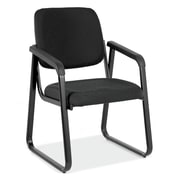 OfficeSource 2708EBONY Value Guest Series Sled Base Chair with Arms