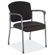 OfficeSource 2904TGBLK Multi-Function Task Series Guest Chair With Arms, Titanium Gray Frame