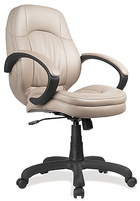 OfficeSource Prudential Series Fabric Executive Office Chair, Fixed Arms, Brown (5021TAU) 1929008