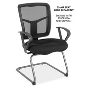 OfficeSource 7728NSBLK CoolMesh Series Mesh Guest Chair With Arms, 10 Color Choices, Titanium Gray Frame