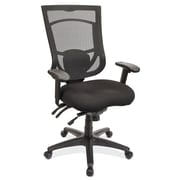 OfficeSource 8014ASBLK CoolMesh Pro Series Multi-Function High Back Chair, Black, Seats Sold Separately