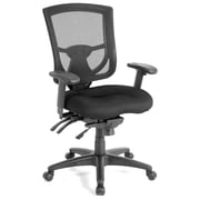 OfficeSource CoolMesh Pro Series Multi-Function Black Mid Back Chair (8054ASBLK)