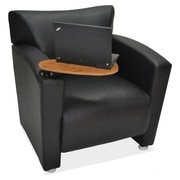 OfficeSource Tribeca Series, Chair with Tablet Arm, Black (9681TABLK)