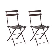 Furniture Designhouse French Bistro European Caf  Folding Side Chair (Set of 2); Jet Black