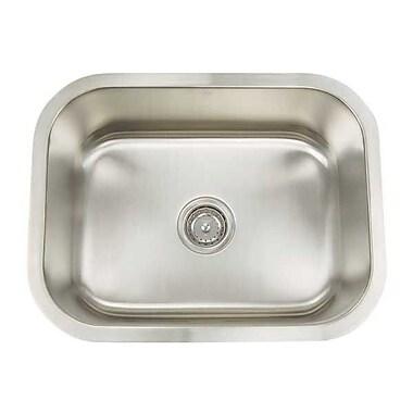 Artisan Sinks Premium Series 23.125'' x 18'' Rectanglular Single Bowl Undermount Kitchen Sink