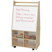 Wood Designs Folding 4 Compartment Teaching Cart w/ Trays