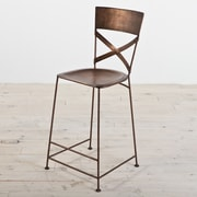 Wildon Home   X-Back Counter Stool; Copper