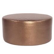 Howard Elliott Ostrich Universal Round Ottoman; Copper