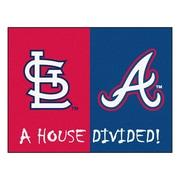 FANMATS MLB House Divided - Cardinals / Braves House Divided Mat