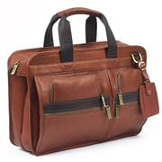 RobertMyers Portfolio Laptop Briefcase; Tan/Brown