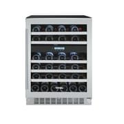 Titan Products, LLC 46 Bottle Dual Zone Built-In Wine Refrigerator
