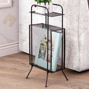 Wildon Home   Cubby End Table; Black