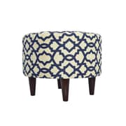 MJLFurniture Sheffield Upholstered Ottoman; Navy Blue