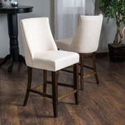 Home Loft Concept Harman 26.5'' Bar Stool with Cushion (Set of 2)