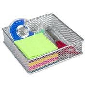 YBM Home Office Desktop and Shelf Organizer Bin/ Basket; 2'' H x 6'' W x 6'' D