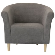 Fox Hill Trading Savannah Solid Club Chair with Beige Finish; Graphite