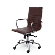 Winport Industries Mid-Back Swivel Task Chair; Brown