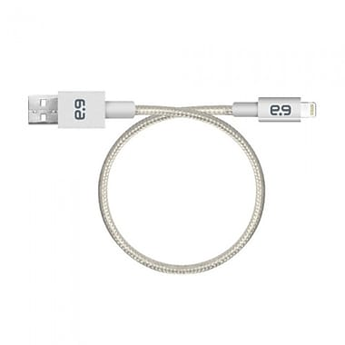 Puregear Metallic Charge/Sync Cable Lightning 9', Silver
