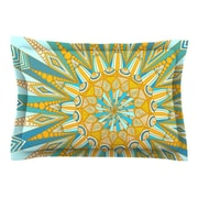 KESS InHouse Here Comes The Sun by Art Love Passion Blue Cotton Pillow Sham