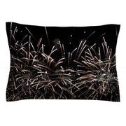 KESS InHouse Fireworks by Catherine McDonald White Woven Sham