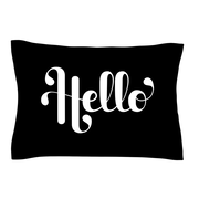 KESS InHouse Hello by Roberlan White Woven Sham