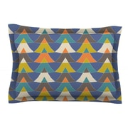 KESS InHouse Colorful Triangles by Julia Grifol Multicolor Woven Sham
