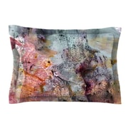 KESS InHouse Floating Colors by Iris Lehnhardt Teal Woven Sham
