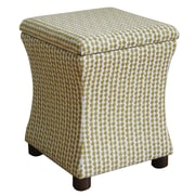 HomePop Fey Upholstered Storage Cube Ottoman