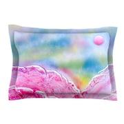 KESS InHouse Hideaway by Infinite Spray Art Blue Cotton Pillow Sham